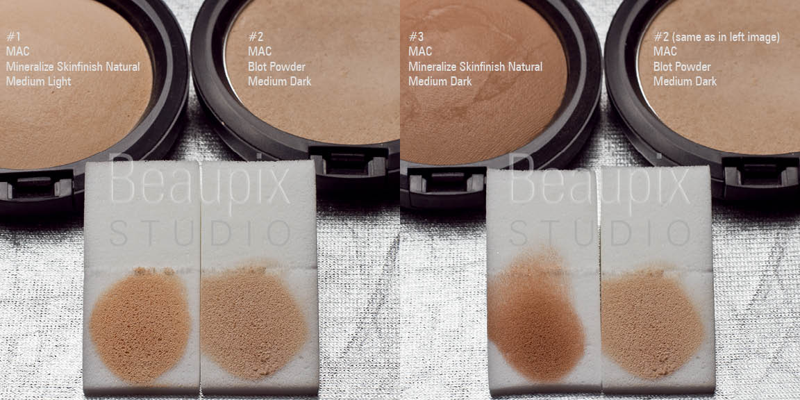 MAC Powder Products compared by a personality headshot photographer