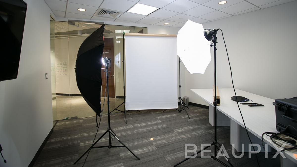 Boston Corporate Photographer, onsite headshot shoot in a conference room