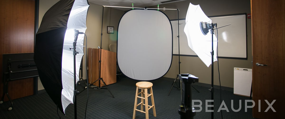 Boston Photographer, onsite corporate headshot shoot in a conference room